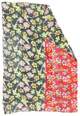"""Kantha Quilt Vintage Sari India 3 (51"""" x 73"""")"""