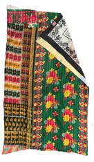 """Kantha Quilt Vintage Sari India 4 (56"""" x 90"""")"""