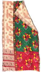"""Kantha Quilt Vintage Sari India 5 (49"""" x 90"""")"""