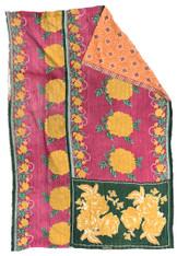 """Kantha Quilt Vintage Sari India 6 (60"""" x 92"""")"""
