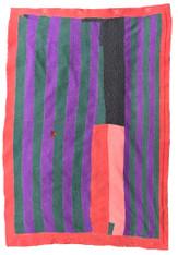 """Kantha Quilt Vintage Sari India 31 (60"""" x 84"""")"""