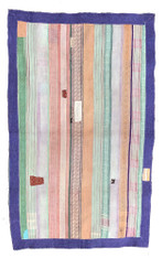 """Kantha Quilt Vintage Sari India 8 (48"""" x 72"""")"""