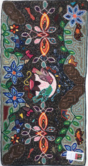 "Handmade Large Hooked Rug by Hilda Guatemala (24"" x 48"")"