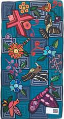 "Handmade Large Hooked Rug by Petronilla Guatemala (24"" x 48"")"
