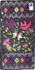 "Handmade Large Hooked Rug by Gloria Guatemala (24"" x 48"")"