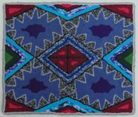 "Handmade Hooked Small Rug by Silvia Guatemala (18"" x 22"")"
