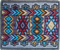 """Handmade Hooked Small Rug by Juana Yolanda Guatemala (18"""" x 22"""")"""
