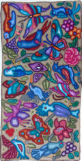 "Handmade Large Hooked Rug by Irma Raquel Guatemala (24"" x 48"")"