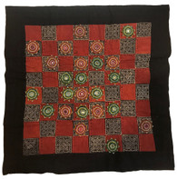 "Handmade Checkers Beaded Set India (20"" x 20"")"