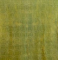 "Handmade Natural Dyed  Shibori Cotton Green  India (45"" wide)"