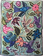 "Handmade Hooked Medium Rug by Nicolasa Guatemala (24"" x 32"")"