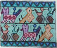 "Handmade Hooked Small Rug by Nicolasa Guatemala (18"" x 22"")"