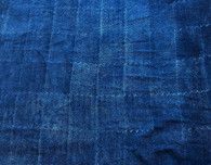 "Hand Block Printed Indigo Dyed Organic Cotton Fabric  India (50"" wide)"