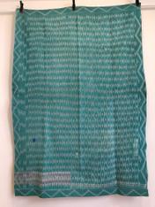 """Kantha Quilt  Hand Stitched Vintage Sari India 35  (54"""" x 73"""")"""