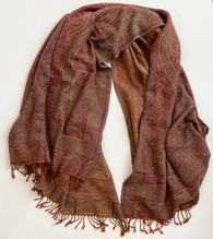 "Handwoven Boiled Wool Throw A India (54"" x 80"")"