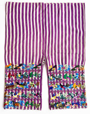 "Traditional Bird Hand Embroidery Men's Pants 2 Guatemala (24"" x 31"")"