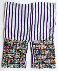 "Traditional Bird Hand Embroidery Men's Pants  Guatemala (23"" x 33"")"