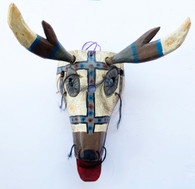 """Wooden Hand Carved Deer Mask  Guatemala ( 6""""w x 11""""t)"""