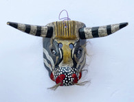"""Wooden Hand Carved Bull Mask  Guatemala ( 15""""w x 10""""t)"""