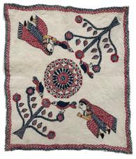 "Hand Stitched Kantha Story Cloth Cotton India (11"" x 12.5"")"