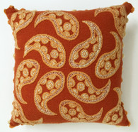 """Peru Woolen Hand Woven and Embroidered Pillow (17"""" x 17"""")"""