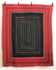 """Hand Stitched Embroidered Saami Quilt India  (68"""" x 88"""")"""