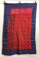 """Hand Stitched Embroidered Saami Quilt 2 India  (62"""" x 86"""")"""