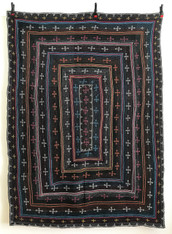 """Hand Stitched Embroidered Saami Quilt 3 India  (58"""" x 82"""")"""