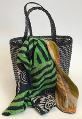 Picnic Basket with Kantha Quilt 6 India and Guatemala