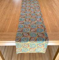 "Hand Stitched Silk  Kantha Table Runner (12"" x 72"")"