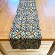 "Hand Stitched Silk  Kantha Table Runner (14"" x 84"")"
