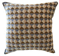 "Handstitched Cotton Kantha Pillow India  (18"" x 18"")"