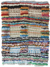 "Handwoven Boucherouite Rug 6 Morocco (48"" x 64"")"