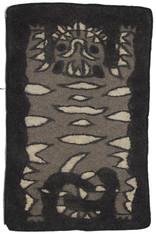 "Handmade Wool Felt Tiger Rug 9 Afghanistan (30"" x 48"")"