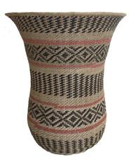 "Handwoven Traditional Ye'kwana Basket Small Natural Fiber  Venezuela (6.5"" x 5.5"")"