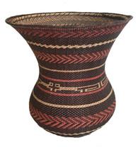 "Handmade Natural Fiber Ye'kwana Basket Venezuela (10"" x 10"")"