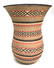 "Handmade Natural Fiber Ye'kwana Basket 2 Venezuela (9.5"" tall x 7""wide)"