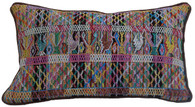 "Handwoven Traditional Maya Textile Pillow Guatemala ( 12"" x 18"")"