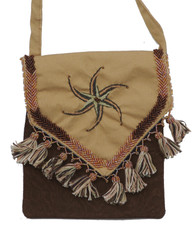 "Handmade Embroidered Bedouin Shoulder Bag 4 (7"" x 7"")"