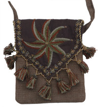 "Handmade Embroidered Bedouin Shoulder Bag 6 (7"" x 7"")"