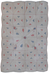 "West Bengal Vintage Kantha Quilt India (47""x 72"")"