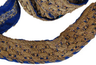 Machine Made Vintage Sari Trim D India Sold by the Yard