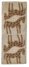 "Handmade Wool Felt Horse Runner Afghanistan Natural (30"" x 72"")"