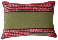 "Handwoven Woolen Peruvian Natural Dyed Pillow ( 12""x 17"")"