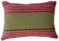 """Handwoven Woolen Peruvian Natural Dyed Pillow ( 12""""x 17"""")"""