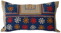 "Applique Handmade Pillow India (11"" x 20"")"