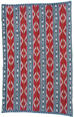 "Handwoven Traditional Tribal Wool Rug Kyrgyzstan (48"" x 75"")"