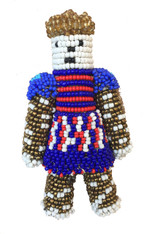 "Handmade Beaded Doll 4 South Sudan (7"" x 4"")"