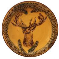 """Handmade Ceramic Deer Plate Bulgaria (10.5"""")"""