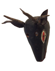 Wooden Hand Carved Deer Mask Guatemala